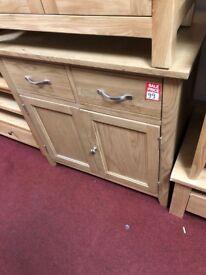 2 drawer 2 door chest - wood