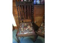 2 Antique Teddy Bear Chairs