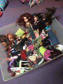 Bratzs dolls and accessories.