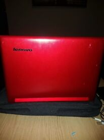 Lenovo laptop red touch screen with keyboard