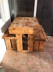 Solid wood dining/breakfast table