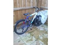 Mans falcon bike 26 inch wheels used twice come with cover and lock