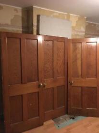 3x Douglas Fir Doors Original, Murrayfield.