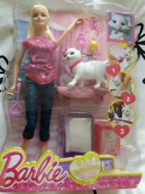 Barbie Doll and Kitty