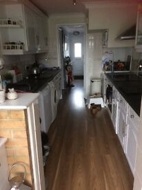 Double and a single room to rent would suit a female in a lovely, clean family home. Must like dogs