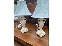 Beautiful pair french lamps & shades £15 pair