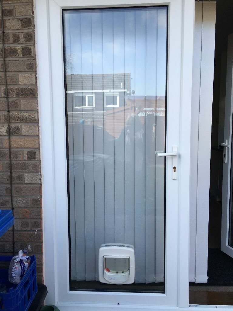 Double Glazed Glass Unit For Patio Door With Cat Flap In Poulton