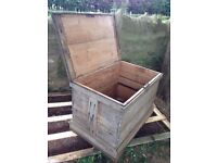 Wooden Chest - Large, Old (H 66 cm, D 65 cm, W 99 cm)