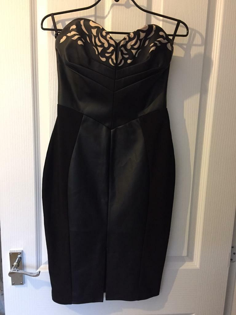 Black pleather lipsy dress size 10in Rainworth, NottinghamshireGumtree - Michelle keegan black faux leather lipsy dress. Size 10. Can be worn strapless or with. Not worn but no tags. Originally £90. Collection from rainworth only