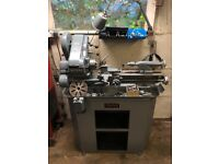 Myford Super 7 Lathe on stand with lots of tooling