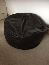 Large John Lewis Genuine Leather Bean Bag / Pouffe