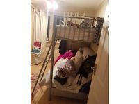 metal frame bunk beds single on top pull out double on bottom