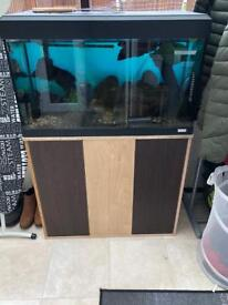 Fluval 125 fish tank and stand