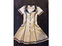 Vintage dress, size 10, cream and black, voodoo vixen