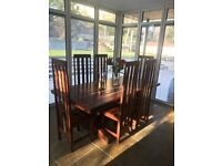 Beautiful Solid Wood Dining Table and Chairs