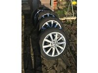 4 x 17 Inch Genuine VW Dijon Alloys Wheels With Used Tyres (Volkswagen, Golf, Passat)