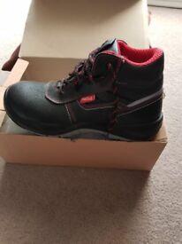 Work Boots, steel toe cap, new