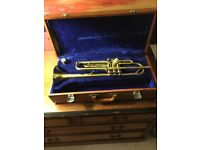 LARK TRUMPET WITH FITTED PROTECTIVE CASE