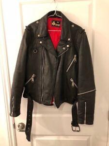 Motorcycle leather jacket size: 52