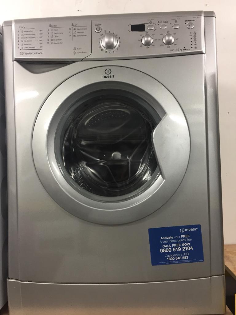 Indesit silver good looking 7kg 1400spin washing machine cheap