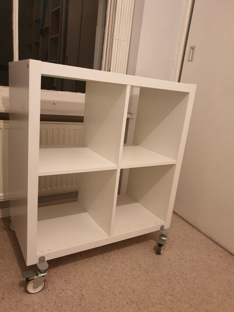 new arrival f73ed 18251 White IKEA kallax shelving storage unit with removable wheels | in Seven  Sisters, London | Gumtree