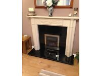 Gas fire and surround with half marble. Fully working good condition