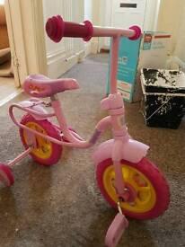 Child's pepper pig bike
