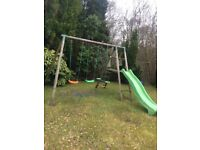 Smyths wooden multiplay centre, featuring swings slide & seesaw