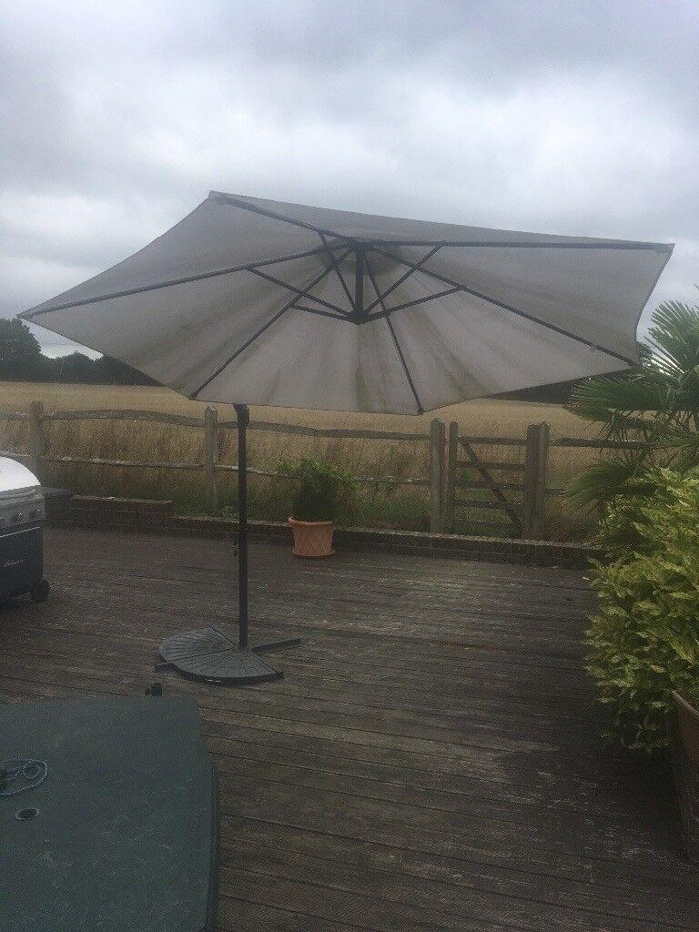 Asda Garden Parasol Cantilever Umbrella