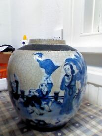 Antique Chinese ginger jar 8 late 19 century