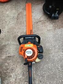 Stihl hs 45 petrol hedge cutters run great and very powerful