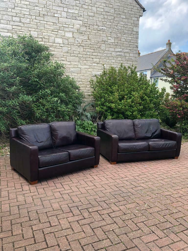 Leather sofas | in Portland, Dorset | Gumtree