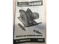 direct power 7 1/4 inch circular saw
