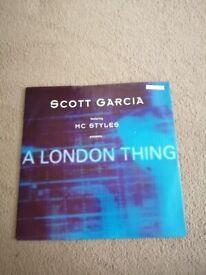 """1997 Scott Garcia A London Thing 12"""" vinyl record"""