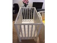 Petite Cot with mattress (£60) in a great, clean condition