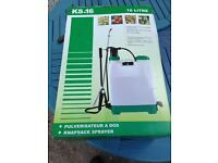 16 litre backpack sprayer brand new in box