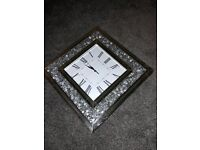 Large clock with beautiful rhinestone decor for sale