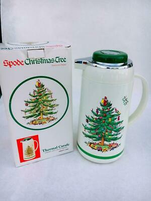 Spode Christmas Tree Thermal / Vacuum Carafe for Coffee, Tea  1 Liter Capacity ()