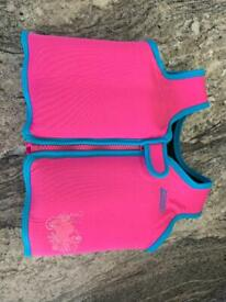 Zoggs Pink Swim Jacket 2-3years