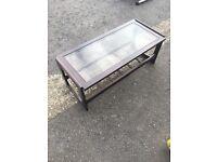 Mahogany glass table