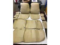 PVC Leather Seat Covers , Protectors For TOYOTA PRIUS XW20 XW30 2005 to 2015 in Cream