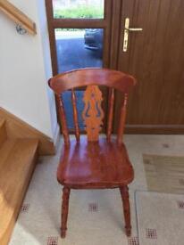 4 x pine kitchen chairs
