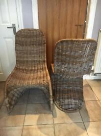 Next Wicker Dining Room Chairs Set Of 4