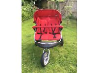 Mothercare double 3 wheel pushchair