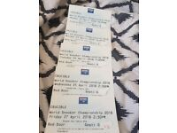 World Snooker Championship Tickets (Various Rounds Available) Collection Only