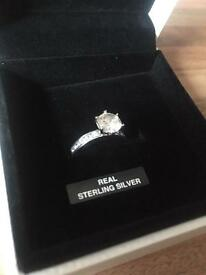 Real silver ring Warren James