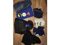 Bundle Boys Clothes Age 8-9 - Shorts, Hoody, Coat, Trousers, T Shirts - 7 items