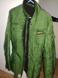 Womans green Barbour jacket size 14