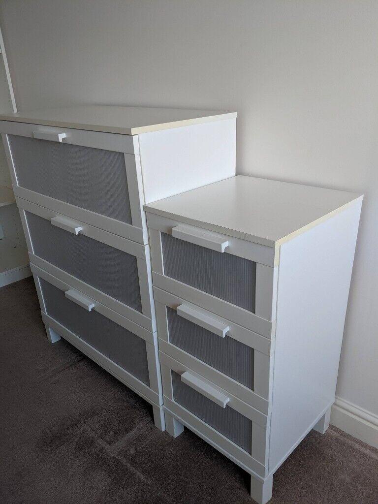 White Ikea Aneboda Brimnes Set Of