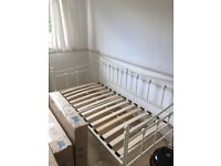 Single cream day bed